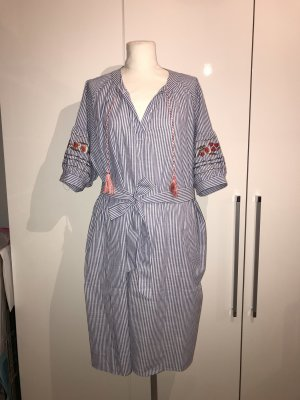 Plus Size Kleid Gr.50/52 Gr.5XL NEU blau Streifenkleid