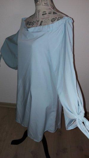 plus size ,off shoulder Bluse, hellblau, Gr.46, NEU