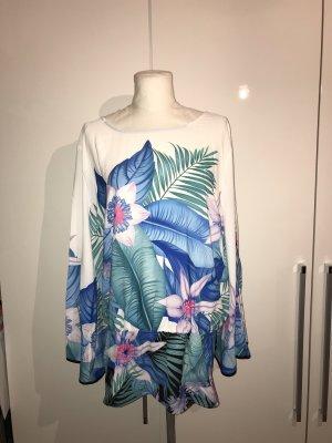 Plus Size Tunika Gr.50 Bluse mit Blumenmuster