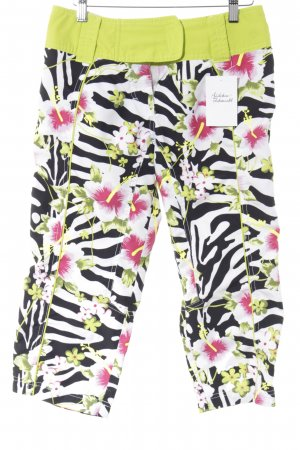 Plusminus Capribroek bloemenprint Beach-look