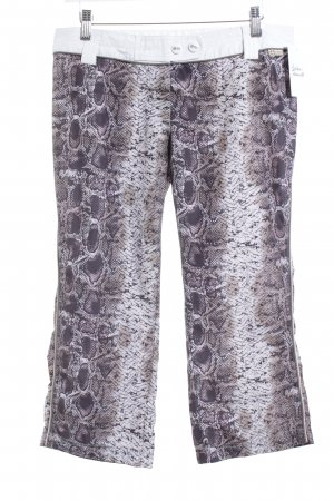 PLUSMINUS created by Chiemsee 3/4 Length Trousers multicolored reptile print