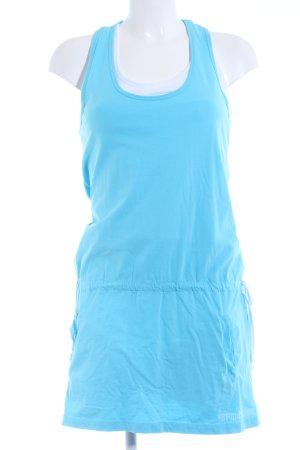 PLUSMINUS created by Chiemsee Jerseykleid türkis-weiß sportlicher Stil