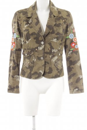 PLUSMINUS created by Chiemsee Kurz-Blazer Camouflagemuster Military-Look