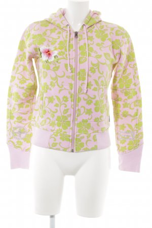 PLUSMINUS created by Chiemsee Sportjacke rosa-hellgrün Allover-Druck Beach-Look