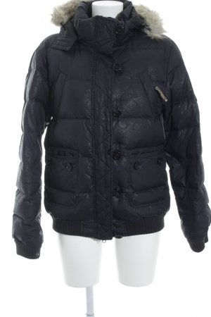 PLUSMINUS created by Chiemsee Quilted Jacket dark blue graphic pattern
