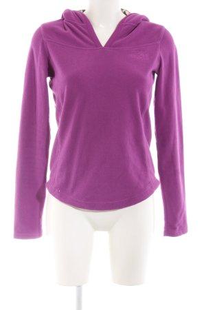 Plusminus Fleece Jumper lilac casual look