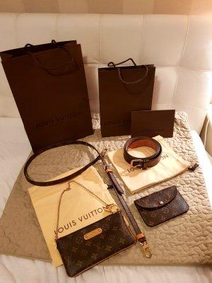 Louis Vuitton Pochette oro-marrone