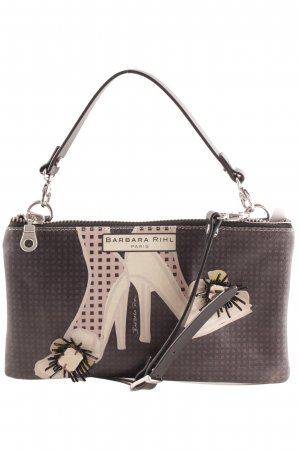 Pochette black brown-nude themed print extravagant style