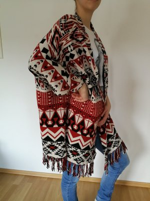 H&M Divided Poncho multicolore coton