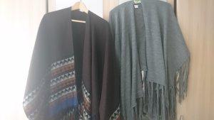 Gina Benotti Poncho grigio-marrone scuro