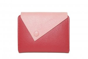 Card Case red-salmon leather