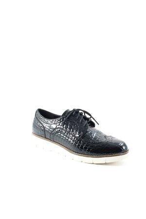 Poelman Chaussures à lacets noir style mode des rues