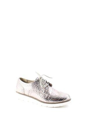 Poelman Scarpa stringata argento stile da moda di strada
