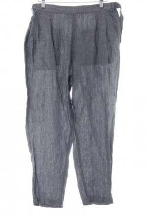 Poetry Pantalón de lino gris claro look casual