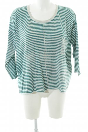 Poetry Gebreid shirt groen-wit casual uitstraling