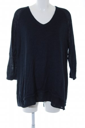Poetry Knitted Jumper dark blue classic style