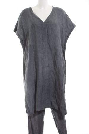 Poetry Woven Twin Set light grey flecked casual look