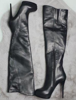 Poi Lei Kniehoge laarzen zwart