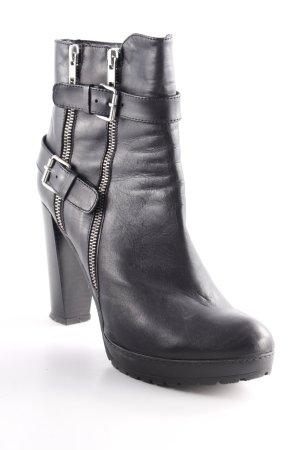 Poi Lei Reißverschluss-Stiefeletten schwarz Casual-Look