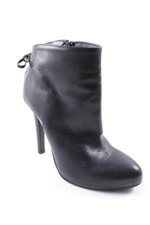 Poi Lei Reißverschluss-Stiefeletten schwarz Elegant