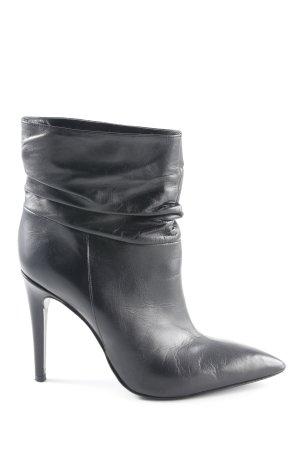 Poi Lei Schlüpf-Stiefeletten schwarz extravaganter Stil