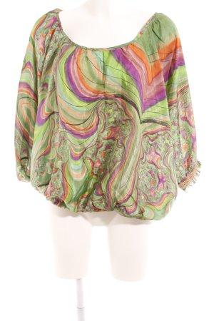 POIS Seidenbluse abstraktes Muster Street-Fashion-Look