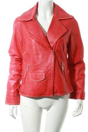 Polar Leder Lederjacke rot schlichter Stil