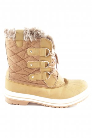 Polar Snow Boots cream quilting pattern athletic style