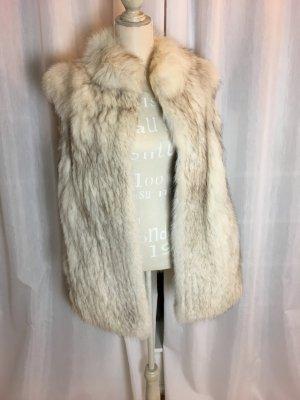 Polarfuchs Pelzweste mit Kapuze perfekt für den Winter