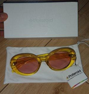 Polaroid Damen Sonnenbrille PLD 6052/S Gelbe Bügel + Rosa Gläser Festival Sommer Sixities 60er Jahre NEU und OVP
