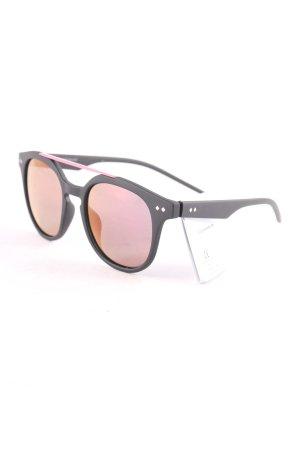Polaroid eckige Sonnenbrille schwarz-rosa Street-Fashion-Look