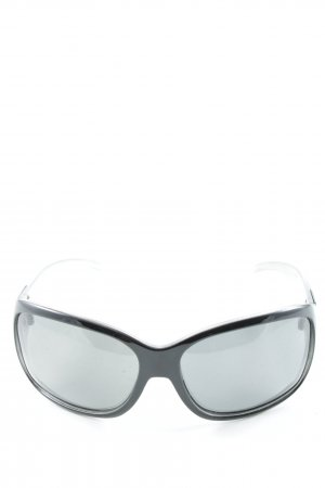 Polaroid ovale Sonnenbrille schwarz-silberfarben Casual-Look