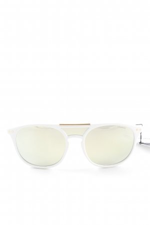 Polaroid Aviator Glasses white casual look