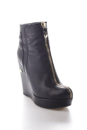 Poletto Keil-Stiefeletten schwarz schlichter Stil