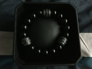 Police Bracelet black-silver-colored stainless steel