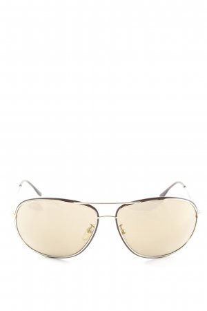Police Pilot Brille hellbraun Casual-Look