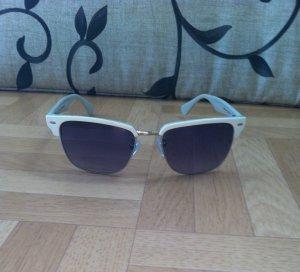 Police Sonnenbrille mit weiß/silbernem Rahmen