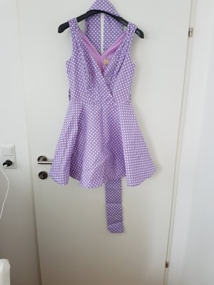 polkadot gepunktetes Kleid in flieder