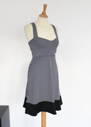 One Touch Midi Dress black-white