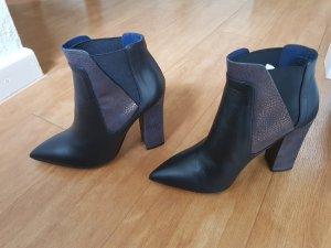 Pollini Low boot noir-bronze cuir