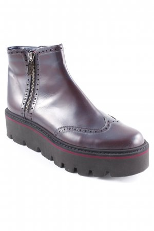 Pollini Ankle Boots brombeerrot-schwarz extravaganter Stil