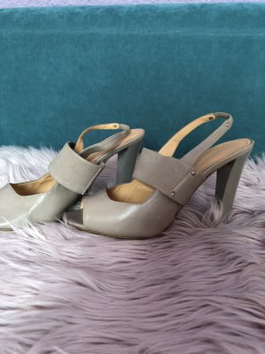 Armando Pollini High-Heeled Sandals light grey