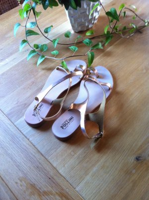 Studio pollini Strapped Sandals rose-gold-coloured leather