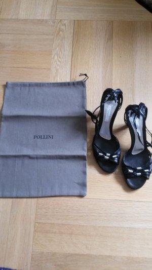 Pollini Sandalette wie neu * schwarz silber