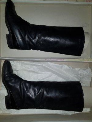 Pollini Jackboots black leather