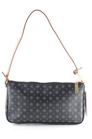 Pollini Schultertasche Monogram-Muster Street-Fashion-Look