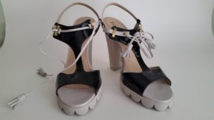Pollini High Heel Sandal light grey-black synthetic material