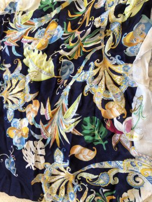 Pollini Silk Cloth dark blue modal fibre
