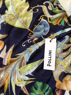 Pollini Foulard en soie bleu foncé modal