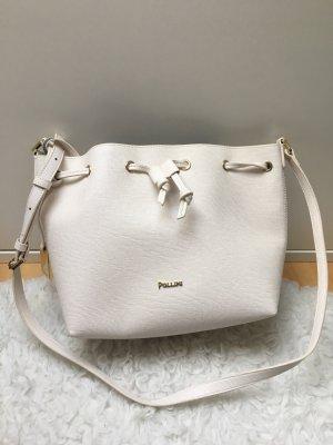 Pollini Umhängetasche Handtasche Designer Tasche weiß